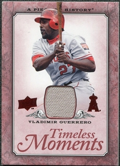 2008 Upper Deck UD A Piece of History Timeless Moments Jersey #24 Vladimir Guerrero