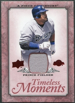 2008 Upper Deck UD A Piece of History Timeless Moments Jersey #27 Prince Fielder