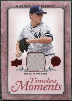 2008 Upper Deck UD A Piece of History Timeless Moments Jersey #44 Phil Hughes