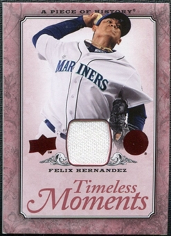 2008 Upper Deck UD A Piece of History Timeless Moments Jersey #45 Felix Hernandez