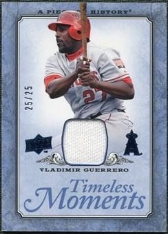 2008 UD A Piece of History Timeless Moments Jersey Blue #24 Vladimir Guerrero /25