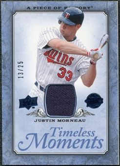 2008 UD A Piece of History Timeless Moments Jersey Blue #29 Justin Morneau /25