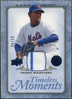 2008 UD A Piece of History Timeless Moments Jersey Blue #32 Pedro Martinez /25