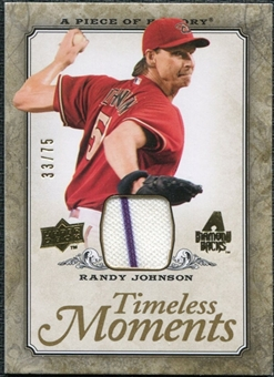 2008 Upper Deck UD A Piece of History Timeless Moments Jersey Gold #1 Randy Johnson /75