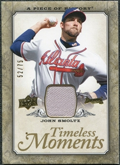 2008 Upper Deck UD A Piece of History Timeless Moments Jersey Gold #3 John Smoltz 52/75