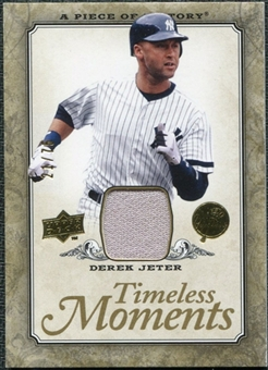 2008 Upper Deck UD A Piece of History Timeless Moments Jersey Gold #35 Derek Jeter /75