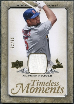 2008 Upper Deck UD A Piece of History Timeless Moments Jersey Gold #47 Albert Pujols /75