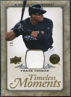 2008 Upper Deck UD A Piece of History Timeless Moments Jersey Gold #49 Frank Thomas /75