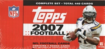 2007 Topps Football Factory Set (Box)