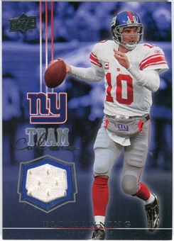 2008 Upper Deck Team Colors Jerseys #TCEM Eli Manning
