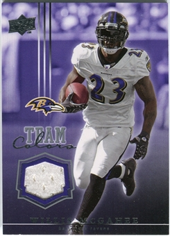 2008 Upper Deck Team Colors Jerseys #TCWM Willis McGahee