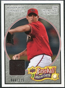 2008 Upper Deck Heroes Jersey Black #1 Brandon Webb /125