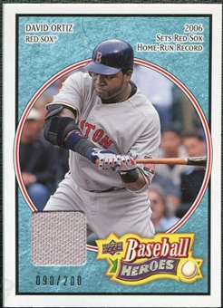 2008 Upper Deck Heroes Jersey Light Blue #21 David Ortiz /200