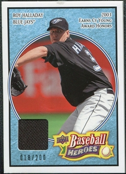 2008 Upper Deck Heroes Jersey Light Blue #169 Roy Halladay /200