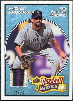 2008 Upper Deck Heroes Patch Light Blue #59 Todd Helton /25