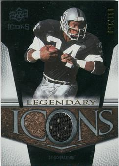 2008 Upper Deck Icons Legendary Icons Jersey Silver #LI3 Bo Jackson /150
