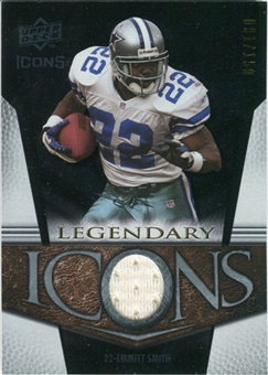 2008 Upper Deck Icons Legendary Icons Jersey Silver #LI7 Emmitt Smith /150