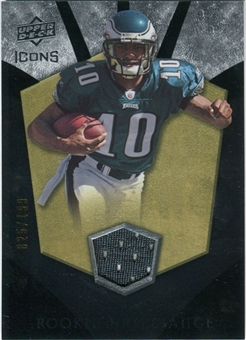 2008 Upper Deck Icons Rookie Brilliance Jersey Silver #RB11 DeSean Jackson /199