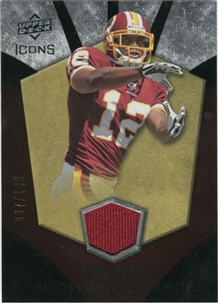 2008 Upper Deck Icons Rookie Brilliance Jersey Silver #RB25 Malcolm Kelly /199