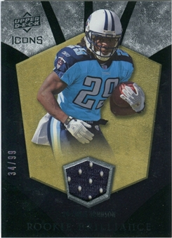 2008 Upper Deck Icons Rookie Brilliance Jersey Gold #RB5 Chris Johnson /99