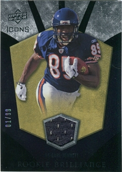 2008 Upper Deck Icons Rookie Brilliance Jersey Gold #RB9 Earl Bennett /99