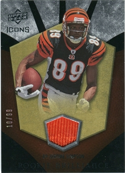 2008 Upper Deck Icons Rookie Brilliance Jersey Gold #RB22 Jerome Simpson /99