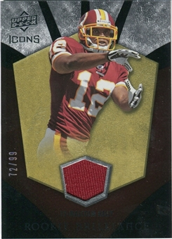 2008 Upper Deck Icons Rookie Brilliance Jersey Gold #RB25 Malcolm Kelly /99