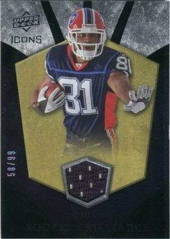 2008 Upper Deck Icons Rookie Brilliance Jersey Gold #RB27 James Hardy /99