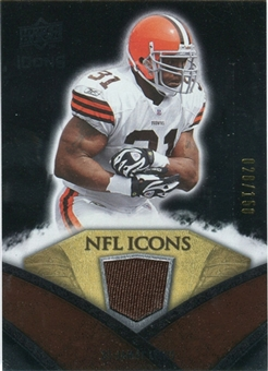 2008 Upper Deck Icons NFL Icons Jersey Silver #NFL9 Jamal Lewis /150
