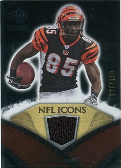 2008 Upper Deck Icons NFL Icons Jersey Silver #NFL12 Chad Johnson /150