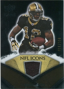 2008 Upper Deck Icons NFL Icons Jersey Silver #NFL23 Marques Colston /150