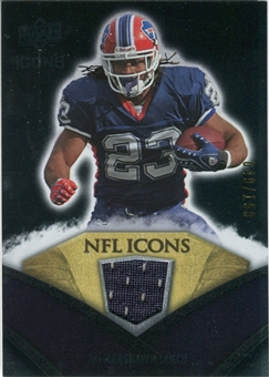 2008 Upper Deck Icons NFL Icons Jersey Silver #NFL34 Marshawn Lynch /150