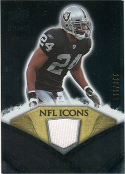 2008 Upper Deck Icons NFL Icons Jersey Silver #NFL37 Michael Huff /150