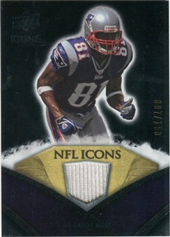 2008 Upper Deck Icons NFL Icons Jersey Silver #NFL42 Randy Moss /150