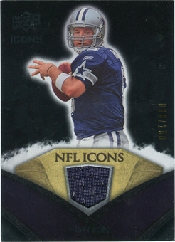 2008 Upper Deck Icons NFL Icons Jersey Silver #NFL46 Tony Romo /150