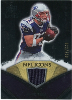 2008 Upper Deck Icons NFL Icons Jersey Silver #NFL49 Wes Welker /150