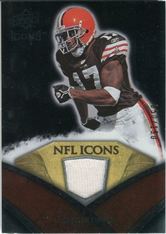 2008 Upper Deck Icons NFL Icons Jersey Silver #NFL50 Braylon Edwards /150