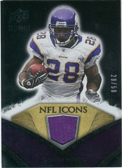 2008 Upper Deck Icons NFL Icons Jersey Gold #NFL1 Adrian Peterson /50
