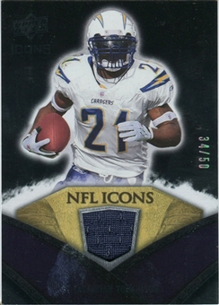 2008 Upper Deck Icons NFL Icons Jersey Gold #NFL30 LaDainian Tomlinson /50