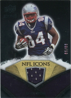 2008 Upper Deck Icons NFL Icons Jersey Gold #NFL45 Ben Watson /50