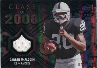 2008 Upper Deck Icons Class of 2008 Jersey Silver #CO1 Darren McFadden /199