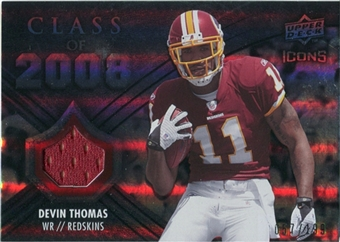 2008 Upper Deck Icons Class of 2008 Jersey Silver #CO5 Devin Thomas /199