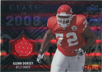 2008 Upper Deck Icons Class of 2008 Jersey Silver #CO13 Glenn Dorsey /199