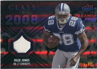 2008 Upper Deck Icons Class of 2008 Jersey Silver #CO16 Felix Jones /199