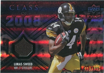 2008 Upper Deck Icons Class of 2008 Jersey Silver #CO24 Limas Sweed /199