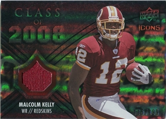 2008 Upper Deck Icons Class of 2008 Jersey Silver #CO26 Malcolm Kelly /199