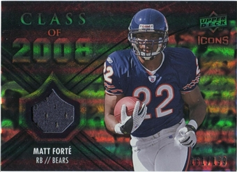 2008 Upper Deck Icons Class of 2008 Jersey Silver #CO29 Matt Forte /199