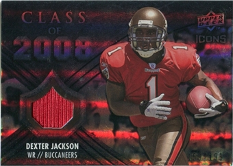 2008 Upper Deck Icons Class of 2008 Jersey Silver #CO30 Dexter Jackson /199
