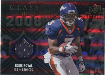 2008 Upper Deck Icons Class of 2008 Jersey Silver #CO31 Eddie Royal /199