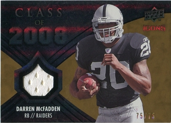 2008 Upper Deck Icons Class of 2008 Jersey Gold #CO1 Darren McFadden /75